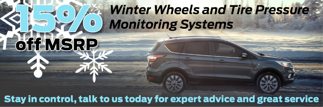 15% off MSRP – Winter Wheels and Tire Pressure Monitoring Systems