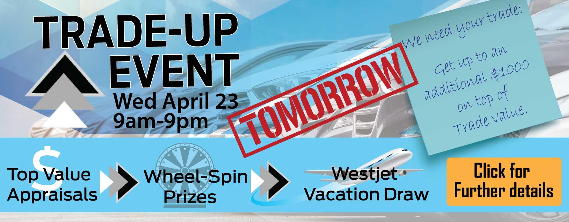 Advantage Ford - Trade Up Event - tomorrow