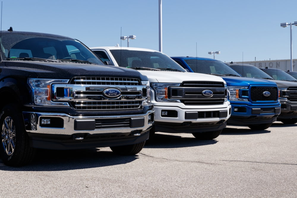 Various Ford truck models